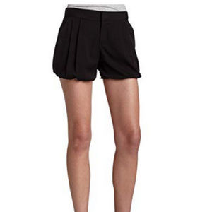 BCBGeneration blk pleated high waist drss shorts 8